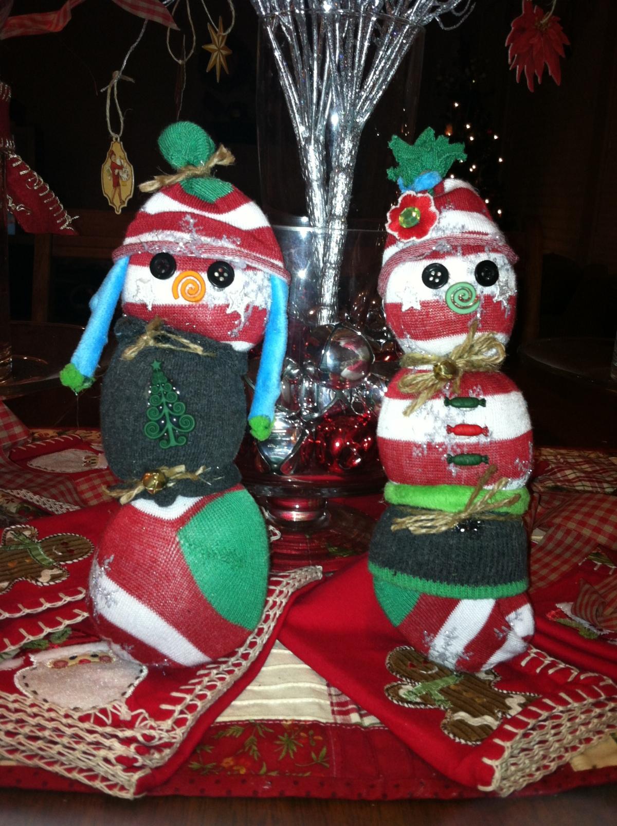 Sock To Snowman