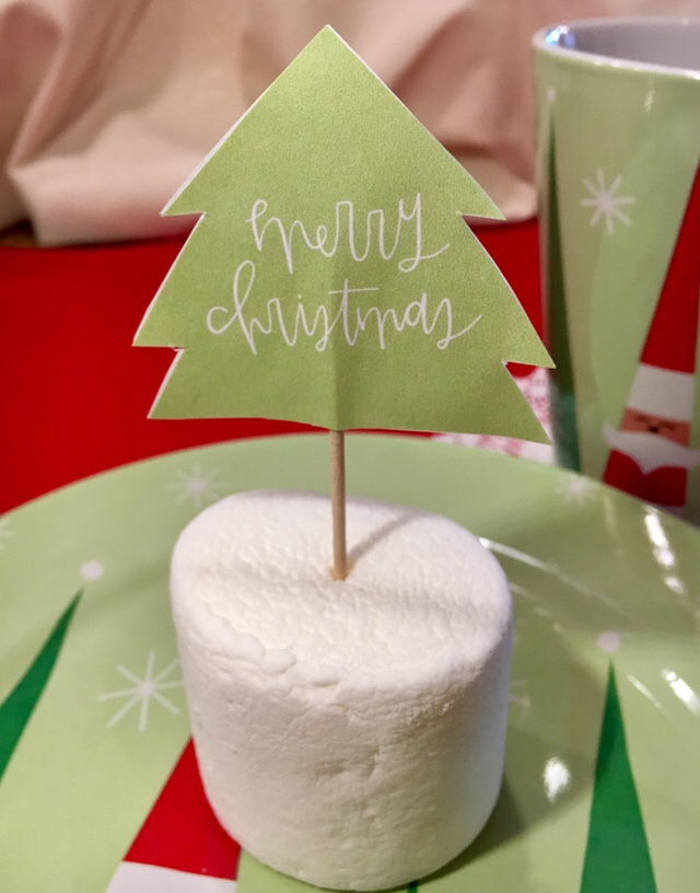 Decorated Tables In Christmas Style & Cupcake TreeToppers